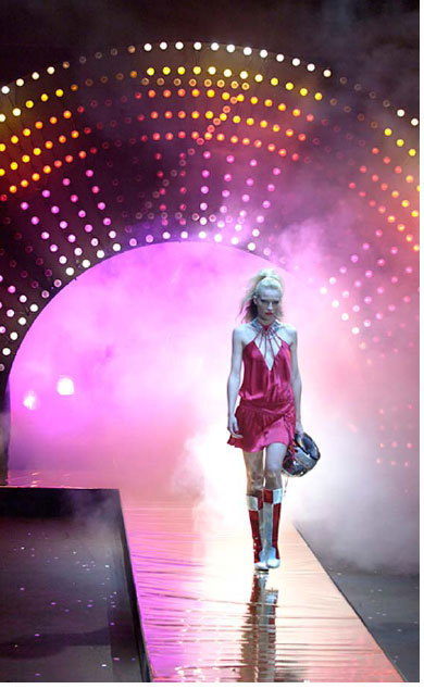 WESTFIELD WHARF 3. In 2002 I directed a series of 7 fashion shows that happen back to back over 4 days, it was a special time, support from a powerful sponsor, a great production team and a chance to make anything happen.